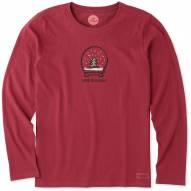 Life is Good Evergreen Snowglobe Women's Long Sleeve Shirt