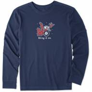 Life is Good Men's Bring It On Snowblower Long Sleeve Shirt