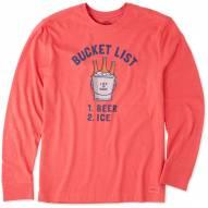 Life is Good Men's Bucket List Beer Crusher Long Sleeve Shirt