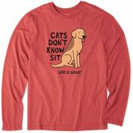 Life is Good Men's Cats Don't Know Sit Long Sleeve T-Shirt