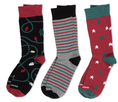Life is Good Men's Holiday Crew Socks