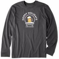 Life is Good Men's Hoppy Holidays Long Sleeve Crusher Shirt
