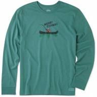 Life is Good Men's Merry Fishmas Crusher Long Sleeve Shirt