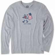 Life is Good Men's Patriotic Jake Long Sleeve Smooth Shirt