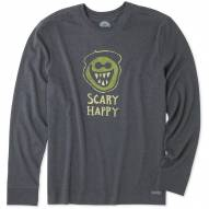Life is Good Men's Scary Happy Crusher Long Sleeve Shirt