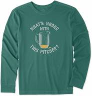 Life is Good Men's Wrong With This Pitcher Long Sleeve Crusher Shirt