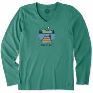 Life is Good Simplify Outside Lake My Day Crusher Women's Long Sleeve Shirt
