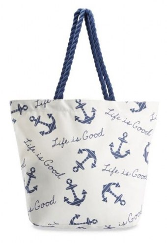 Life is Good Sunny Day Anchors Small Beach Bag
