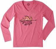 Life is Good Vista Leaf Crusher Women's Long Sleeve Shirt