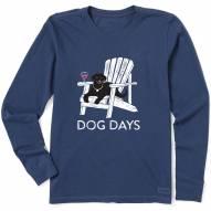 Life is Good Women's Dog Days Crusher Long Sleeve T-Shirt