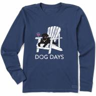 Life is Good Women's Dog Days Crusher Long Sleeve T-Shirt