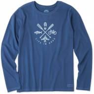Life is Good Women's Outdoor Action Crusher Long Sleeve Shirt