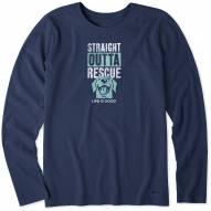 Life is Good Women's Rescue Dog Long Sleeve Crusher Shirt