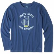 Life is Good Women's Wrong With This Pitcher Crusher Long Sleeve Shirt