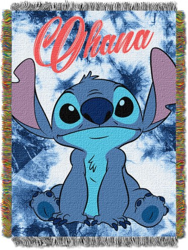 Lilo & Stitch Shibori Throw Blanket
