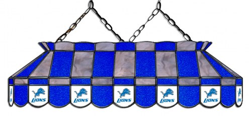 "Detroit Lions NFL Team 40"" Rectangular Stained Glass Shade"