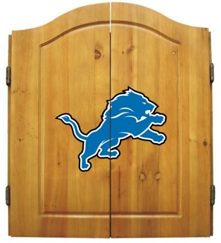 Detroit Lions NFL Complete Dart Board Cabinet Set (w/darts & flights)