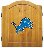 Detroit Lions NFL Complete Dart Board Cabinet Set (w/darts & flights)