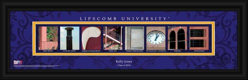 Lipscomb Bisons Personalized Campus Letter Art