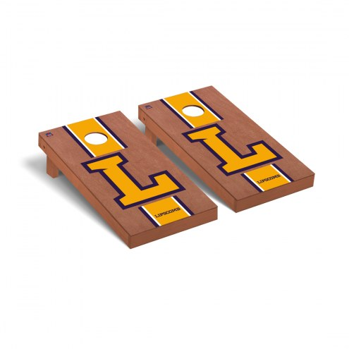 Lipscomb Bisons Rosewood Stained Stripe Cornhole Game Set