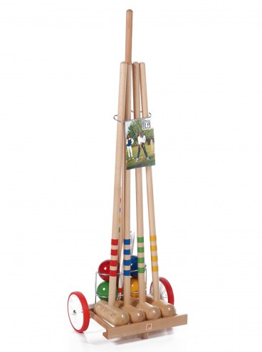 Londero 4-Player Croquet Set with Trolley