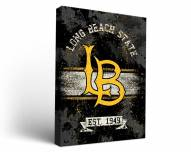 Long Beach State 49ers Banner Canvas Wall Art