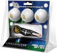 Long Beach State 49ers Black Crosshair Divot Tool & 3 Golf Ball Gift Pack