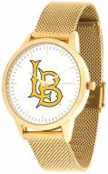 Long Beach State 49ers Gold Mesh Statement Watch