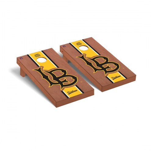 Long Beach State 49ers Rosewood Stained Cornhole Game Set