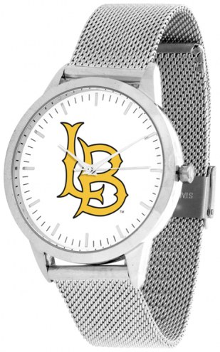 Long Beach State 49ers Silver Mesh Statement Watch