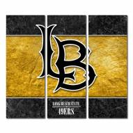 Long Beach State 49ers Triptych Double Border Canvas Wall Art
