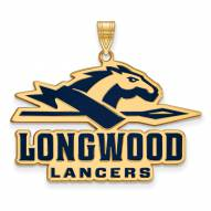Longwood Lancers Sterling Silver Gold Plated Extra Large Enameled Pendant