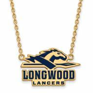 Longwood Lancers Sterling Silver Gold Plated Large Pendant Necklace