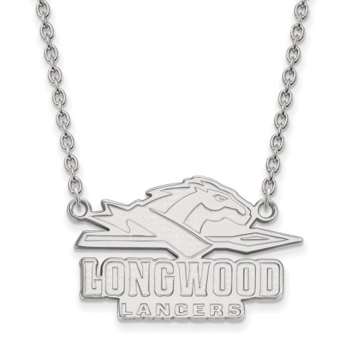 Longwood Lancers Sterling Silver Large Enameled Pendant Necklace