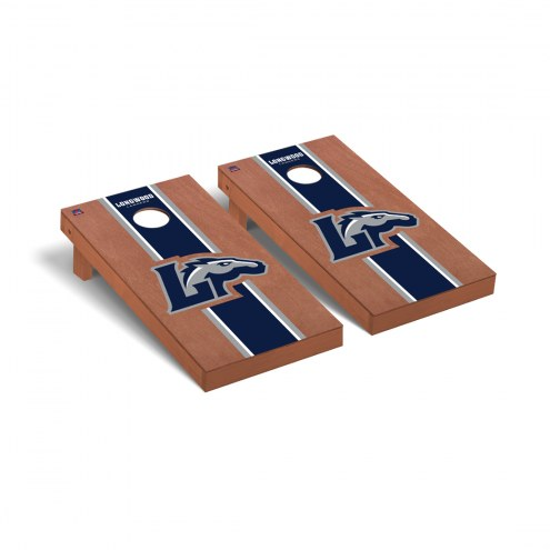 Longwood Lancers Rosewood Stained Stripe Cornhole Game Set