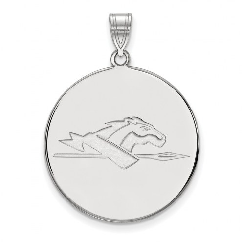Longwood Lancers Sterling Silver Extra Large Disc Pendant