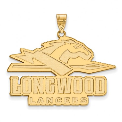 Longwood Lancers Sterling Silver Gold Plated Extra Large Pendant