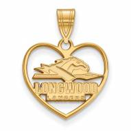 Longwood Lancers Sterling Silver Gold Plated Heart Pendant
