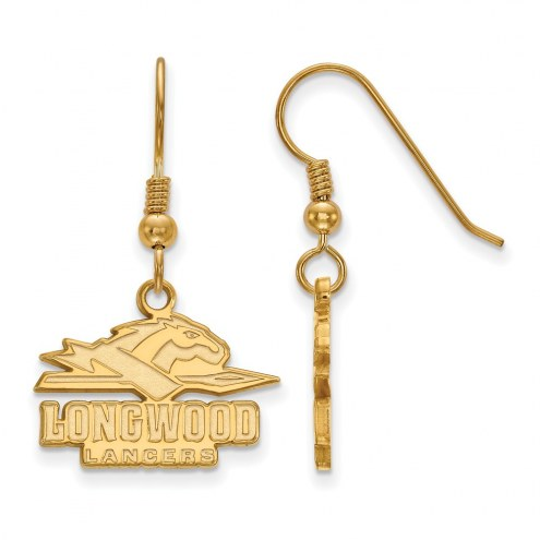 Longwood Lancers Sterling Silver Gold Plated Small Dangle Earrings
