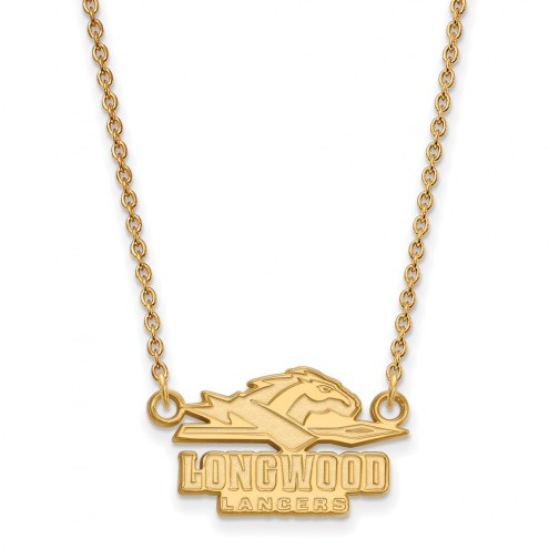 Longwood Lancers Sterling Silver Gold Plated Small Pendant Necklace