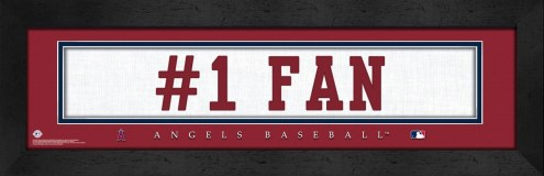 """Los Angeles Angels """"#1 Fan"""" Stitched Jersey Framed Print"""