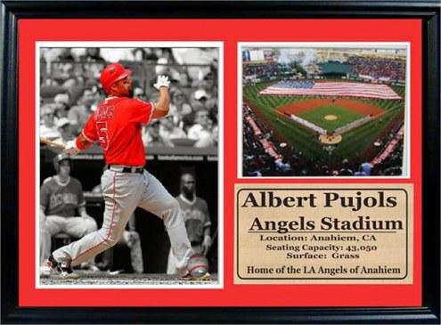 "Los Angeles Angels 12"" x 18"" Albert Pujols Photo Stat Frame"