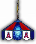 "Los Angeles Angels 14"" Glass Pub Lamp"