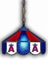 "Los Angeles Angels 14"" Glass Pub Lamp"