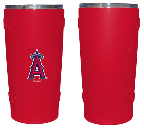 Los Angeles Angels 20 oz. Stainless Steel Tumbler with Silicone Wrap