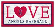 """Los Angeles Angels 6"""" x 12"""" Love Sign"""