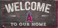 "Los Angeles Angels 6"" x 12"" Welcome Sign"