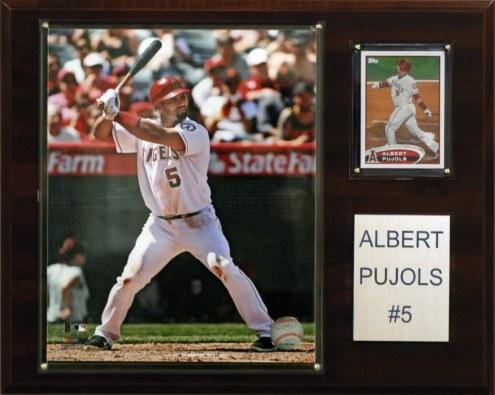 """Los Angeles Angels Albert Pujols 12"""" x 15"""" Player Plaque"""