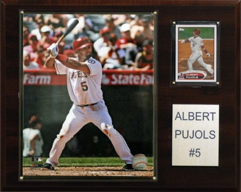 "Los Angeles Angels Albert Pujols 12"" x 15"" Player Plaque"