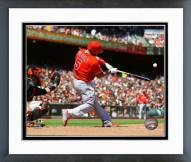 Los Angeles Angels Albert Pujols Action Framed Photo